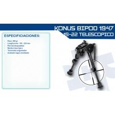 Bipé Konus p/ Carabinas 15-22cm 360Gr.